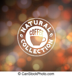 Romantic background with coffee lettering Vector...