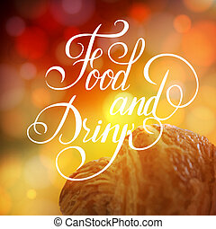 Food and Drink typographic poster design Vector illustration...