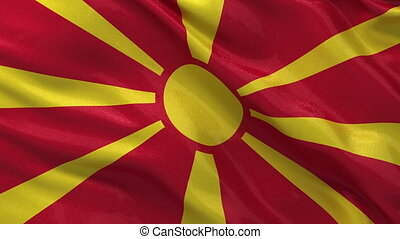 Flag of Macedonia - seamless loop - Flag of Macedonia gently...