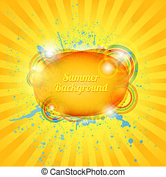 Abstract hot summer background. Vector illustration for your...