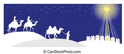 Wisemen silhouette -Facebook cover - Three Wise men with...