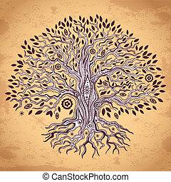 Vintage tree of life illustration - Vintage set of trees can...