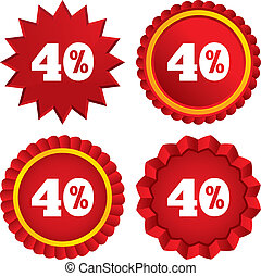 40 percent discount sign icon. Sale symbol. Special offer...