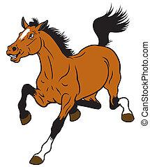 cartoon horse isolated on white background