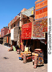 Carpet market in Marrakech - Caroer market in Medina of...