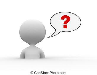 pregunta, marca, pensamiento, burbuja
