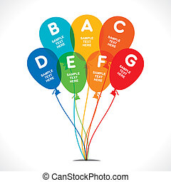 colorful balloon creative infograph - colorful balloon...