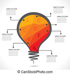 colorful bulb info-graphics design vector