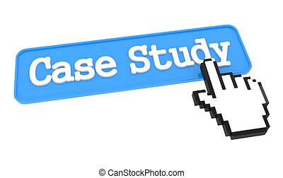 Case Study Button with Hand Cursor. - Case Study - Blue...