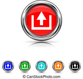 Upload icon - six colours set