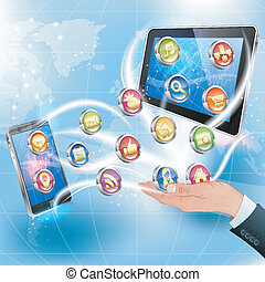Applications for Mobile Platforms - Business Concepts. Hand...