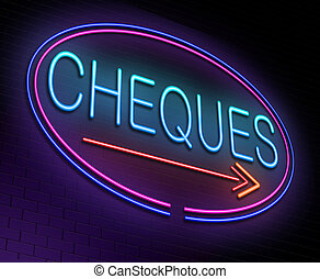 Cheques concept.