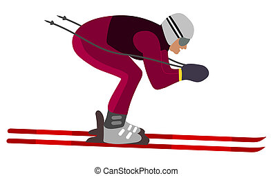 skier aerodynamic position