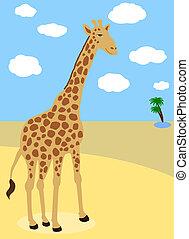 giraffe in the desert