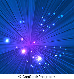 Abstract blue beams background with space for your design