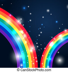 Bright rainbow illustration with space for your design