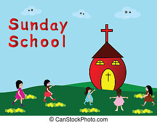 Sunday School - Children go to Sunday School -Christian...
