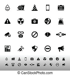 General useful icons on white background