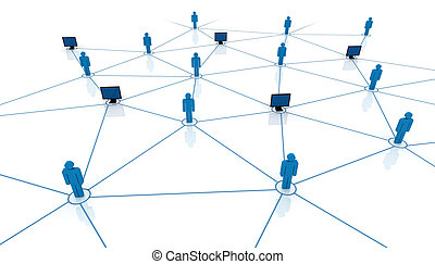 Network concept. Connect people. Business team illustration.