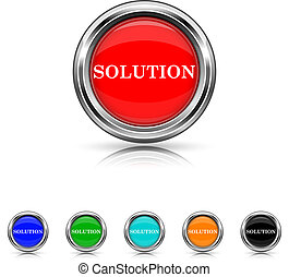 Solution icon - six colours set - Shiny glossy icons - six...