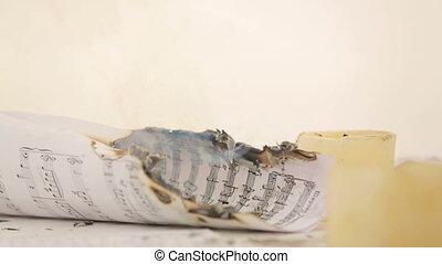 Burning notes