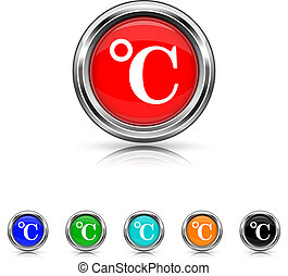 Celsius icon - six colours set - Shiny glossy icons - six...