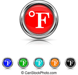 Fahrenheit icon - six colours set
