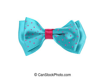 blue bow tie isolated on white background