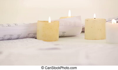 Notes and candles