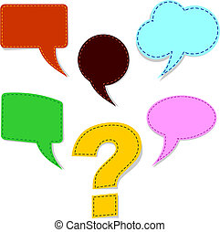 Speech bubbles with question mark