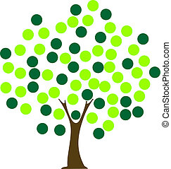 Tree dot - Tree with dot leaves Concept for unity,...
