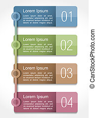 Design Template with Four Elements - Design template with...