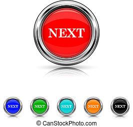 Next icon - six colours set - Shiny glossy icons - six...