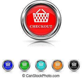Checkout icon - six colours set