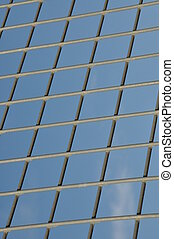 Steel lattice against the blue sky