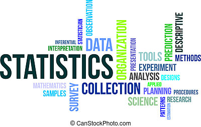 word cloud - statistics - A word cloud of statistics related...