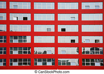 glass windows - Background of multi glass windows on red...