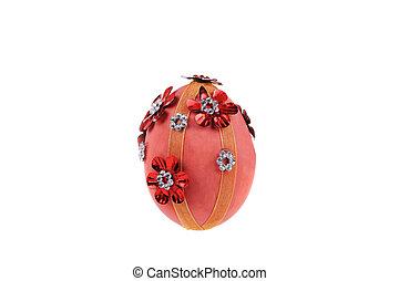 Decorative pink Easter egg.
