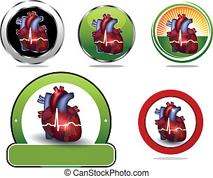 Colorful Heart icon collection