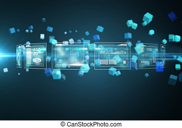 Composite image of business interfaces - Business interfaces...