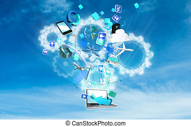 Composite image of computer applications - Computer...