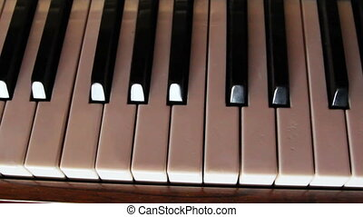 Black and white piano keys - The black and white keys of the...