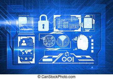 composito, interfaccia, immagine, sicurezza