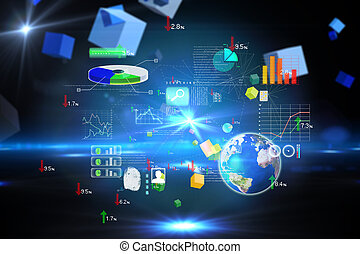 Composite image of global technology background - Global...