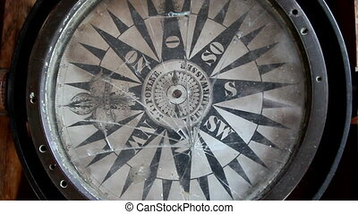 A big compass - A big slightly broken compass use for ship...