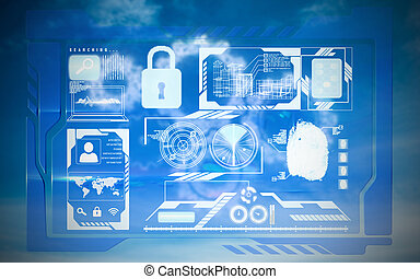 Composite image of security interface - Security interface...