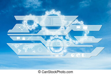 Composite image of business interface - Business interface...