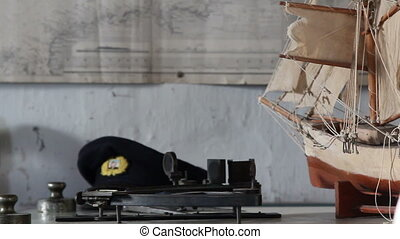 A sideview of a boat or ship model - A sideview of a ship or...