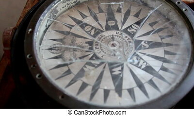 A moving navigational compass - A moving navigational...