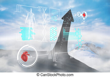 Composite image of medical interfac - Medical interface...
